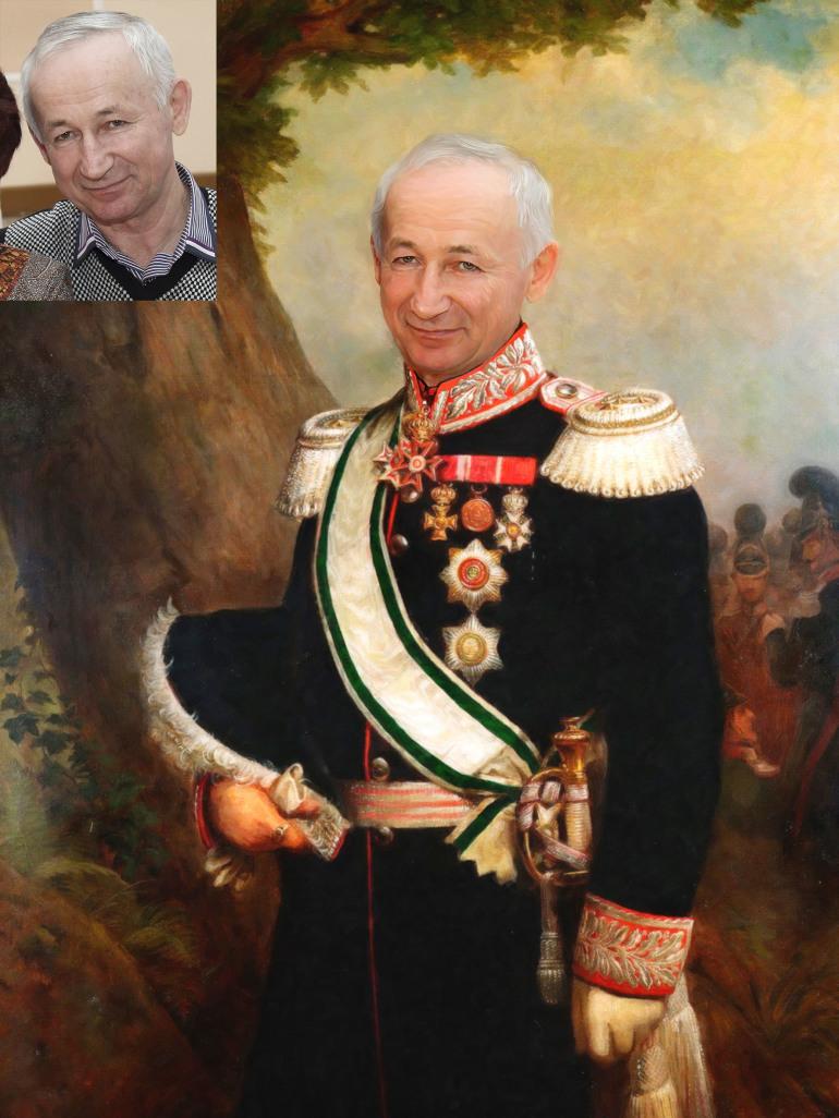 Где заказать исторический портрет по фото на холсте в Нижнем Новгороде?