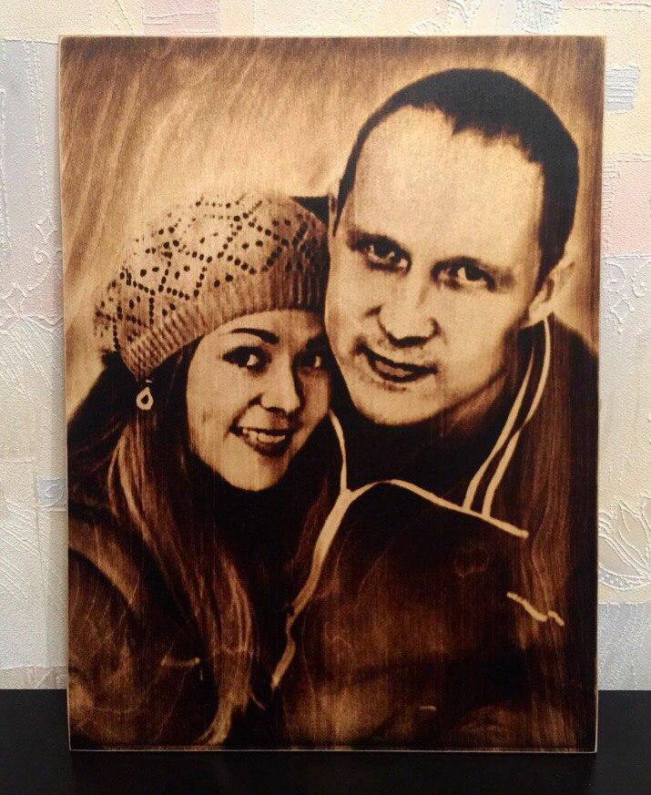 выжигание портретов по дереву на заказ в Нижнем Новгороде