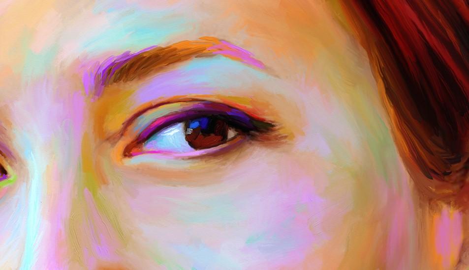 портрет в стиле арт браш