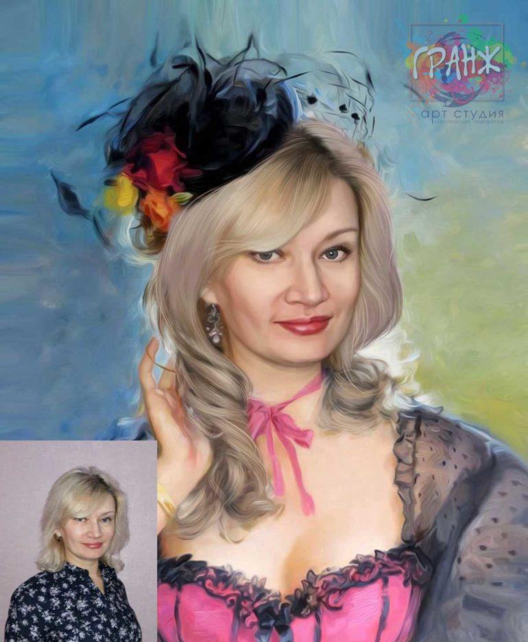 Заказать арт портрет по фото на холсте в Нижнем Новгороде