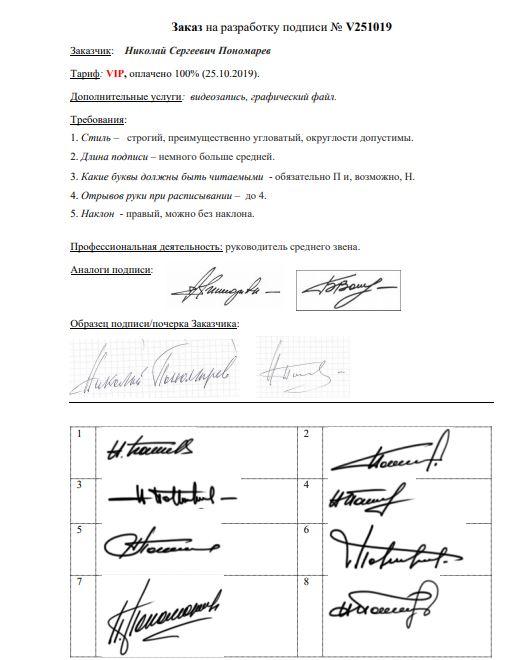 Разработка личной подписи онлайн Нижний Новгород